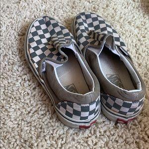 Grey Checkered Vans